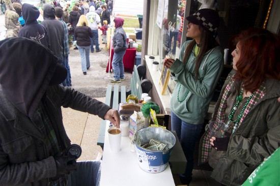 Bailey's Irish coffee was a popular drink at Nora's on cold, rainy St. Pat's day. - LIZ MILLER