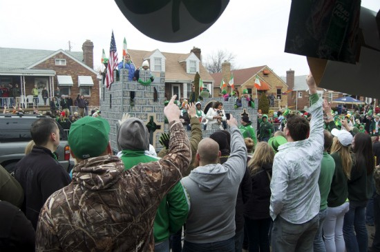 Nora's location on Tamm Avenue near Clayton Avenue puts it right along the St. Patrick's Day parade route. - LIZ MILLER