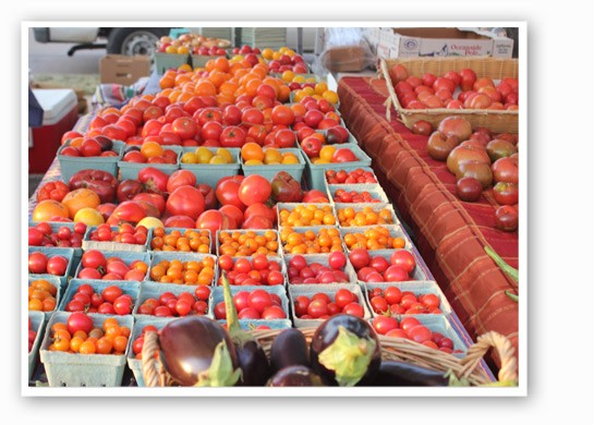 The endless display of tomatoes makes us think that summer can go on forever. | Cheryl Baehr
