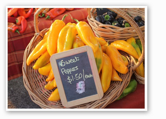 Vibrant sweet yellow peppers are the color of the summer sun. | Cheryl Baehr