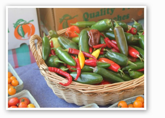 Some hot peppers from Biver Farms adds some spice to the last days of summer. | Cheryl Baehr