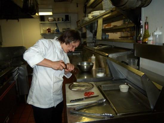 Chef Clawson in Big Sky's kitchen - EMILY WASSERMAN