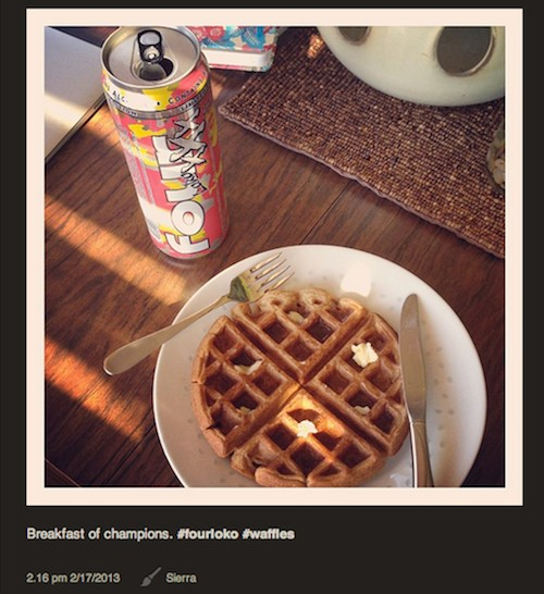 Part of a well-balanced breakfast. - IMAGE VIA