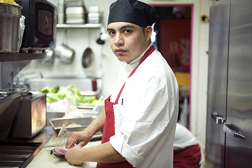 Executive Chef Alberto George in the kitchen at Las Palmas in Maplewood. See the full slideshow here. - PHOTO: JENNIFER SILVERBERG