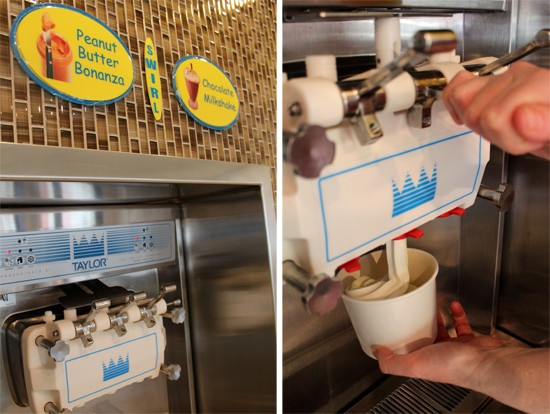 The Island's self-serve frozen yogurt machines. - MABEL SUEN