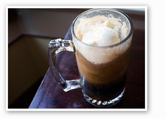 A classic root-beer float. | Mabel Suen