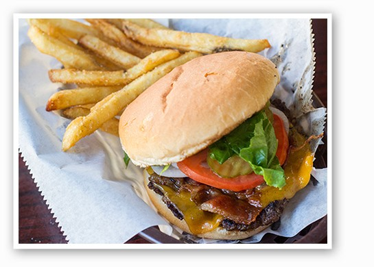 A Fizzy's grilled burger with fries. | Mabel Suen