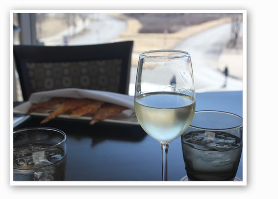 Wine with a view.   Nancy Stiles