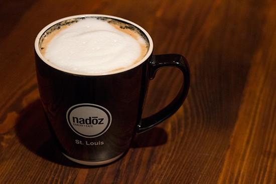 """An """"Almond Joy"""" latte."""