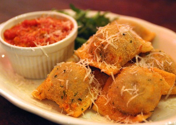Housemade toasted ravioli at Mia Sorella. | Kristan Lieb
