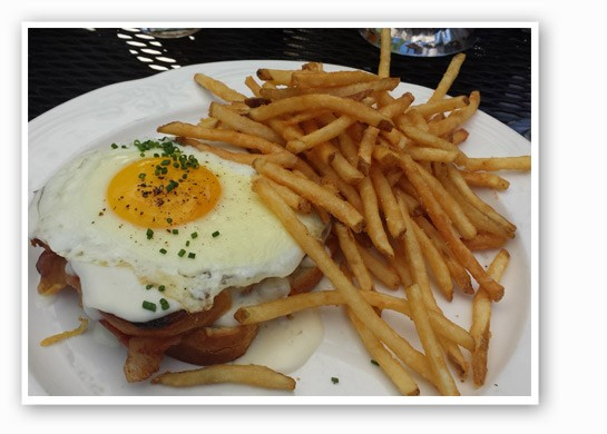 Croque madame and fries. | Jessica Lussenhop