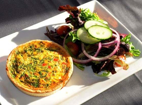 The chef's quiche at Eclipse Restaurant | Tara Mahadevan