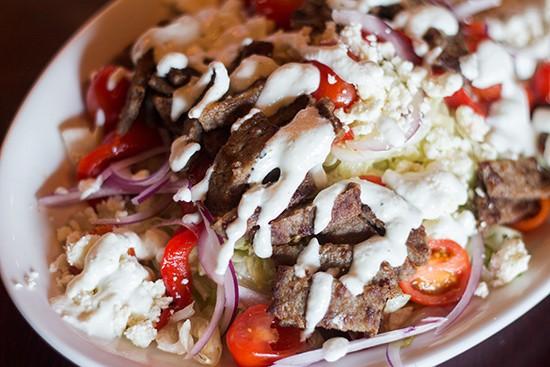 Gyro salad.