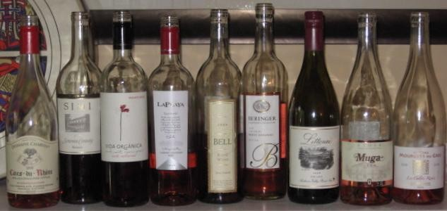 The entire field of wines tasted - DAVE NELSON