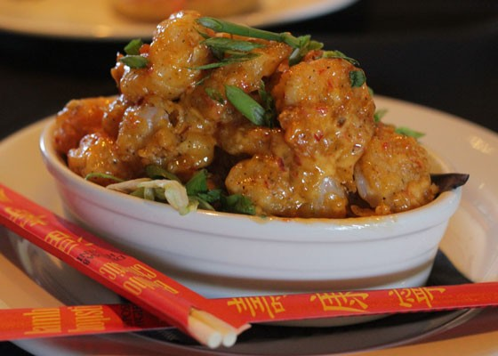"Bang Bang Shrimp, in a ""creamy, spicy sauce."" 