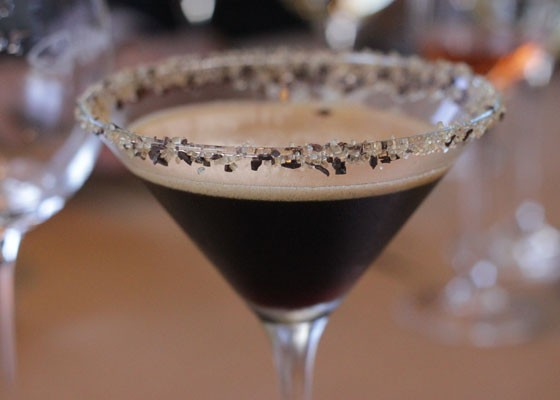 An espresso martini to go with dessert. | Nancy Stiles