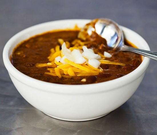 A bowl of Joe's chili - JENNIFER SILVERBERG