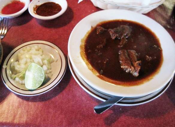 The birria (goat stew) at Pueblo Nuevo - IAN FROEB