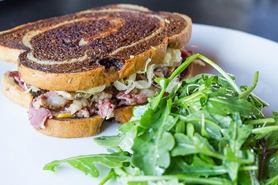 Element's Reuben sandwich with side salad. - MABEL SUEN