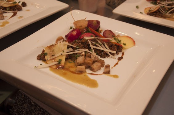 The chef's competition dish from Chris DiMercurio of HandleBar. | Micah Usher