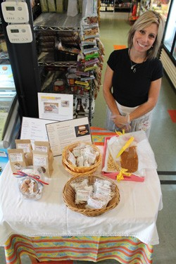 Janet Shulman demoing her caramels at Local Harvest Grocery - MABEL SUEN