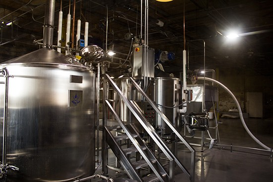 Look over to see some brewing magic in action.