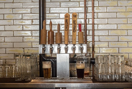 Guest taps are also available in addition to Old Bakery brews.