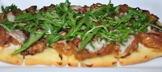 Mushroom flatbread at Robust. - TARA MAHADEVAN