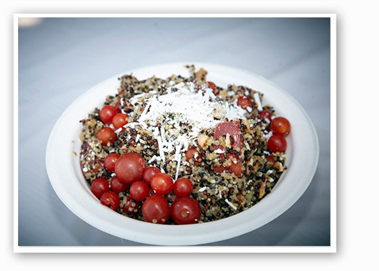 Homegrown tomato and quinoa salad from Cleveland-Heath. | Steve Truesdale