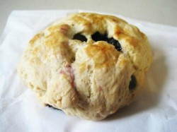 A blueberry scone from La Dolce Via, which closes shop on January 1. - IAN FROEB