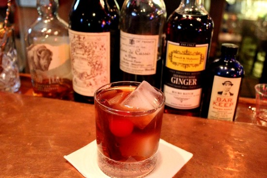 A whole lot of alcohol warms body and soul this season in this mixed drink at Danno's American Pub. - MABEL SUEN