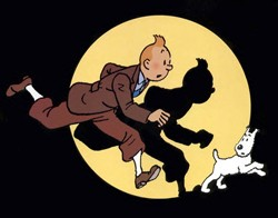 Tintin, as drawn by Hergé. - IMAGE VIA