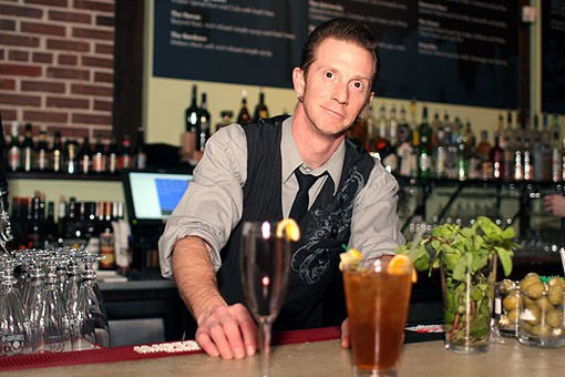 Lola's Matt McMullen at the bar. See more photos from Lola in our slideshow. - PHOTO: CRYSTAL ROLFE