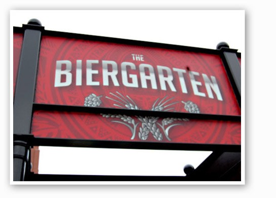 The new Anheuser-Busch Biergarten. | Nancy Stiles