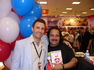 Flying Pink Pig star Ron Jeremy (right) with unknown fellow porn actor.