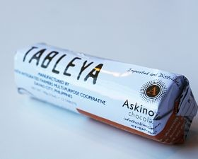Presenting a package of Tableya or 232 school lunches. - COURTESY ASKINOSIE CHOCOLATE