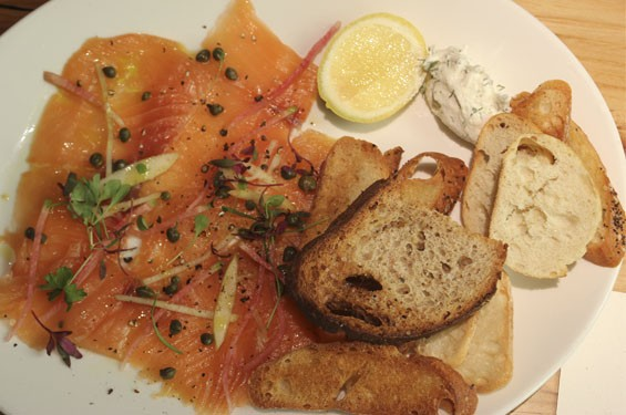 House smoked salmon with mascarpone cheese | Nancy Stiles