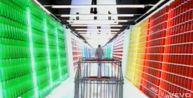 "The video for ""Fake Plastic Trees"" features an eerie supermarket scene."