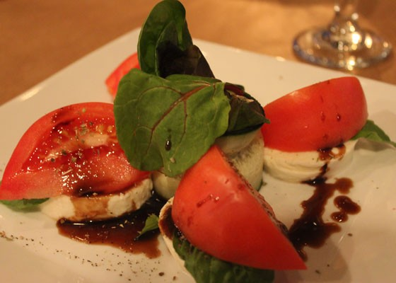 Caprese salad with cucumber at Vito's. | Nancy Stiles