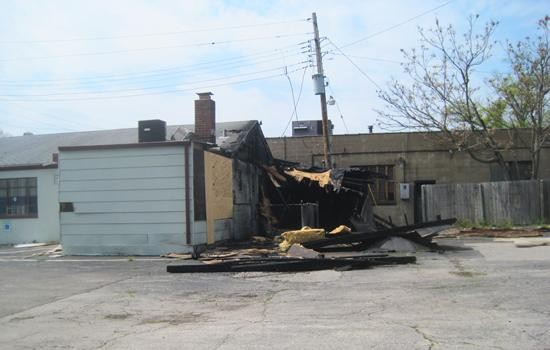 The damage after the fire at the former Kramer's Olive Bistro in March. - IAN FROEB