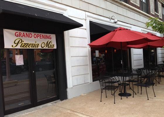 Pizzeria Mia's patio. | Nancy Stiles