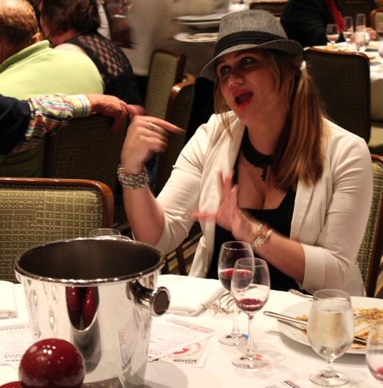 STL Winegirl Angela Ortmann makes her case for her wine pairing. | Evan C. Jones