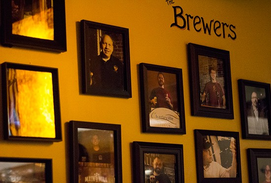 Wall of brewmasters.