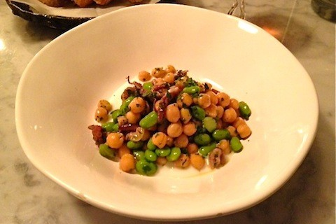 The octopus salad with chickpeas and edamame at Olio | Ian Froeb