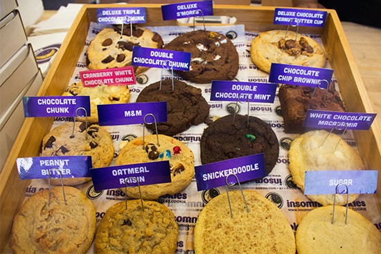 Options at Insomnia Cookies. | Photos by Mabel Suen