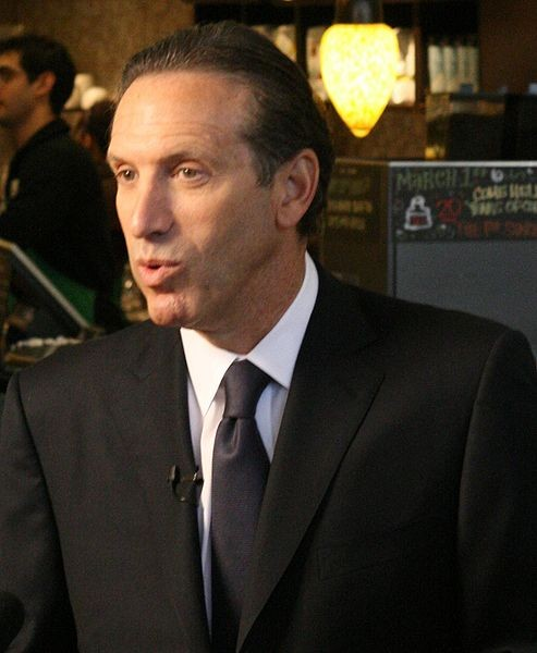 "Starbucks founder, CEO Howard Schultz - USER ""SILLYGWAILO,"" WIKIMEDIA COMMONS"