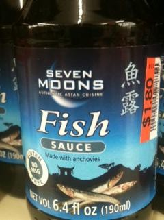 Fish sauce -- not the place to take chances. - ROBIN WHEELER