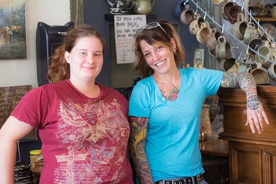 Owner Nicole McCormack (right) with employee Galadriel Pate.
