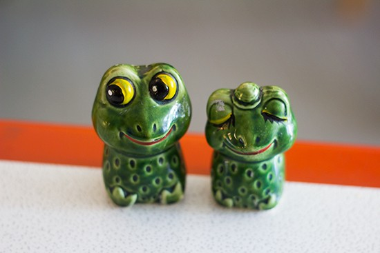 Cute little salt and pepper shakers.