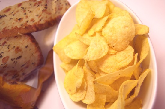 Lay's new, limited release Cheesy Garlic Bread potato chips. - LIZ MILLER